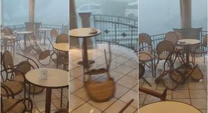 Catanzaro, tromba d'aria a Falerna: le sedie spostate dal vento