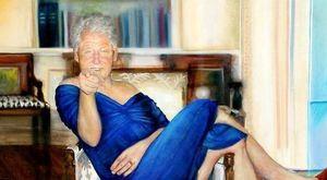 In casa di Epstein un ritratto di Clinton vestito da Lewinsky