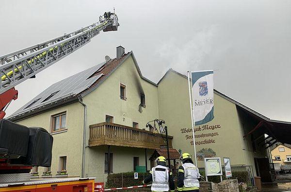 Feuer in Winterhausen: Ein Verletzter bei Brand auf Weingut
