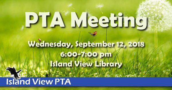 Image for PTA Meeting: September 12, 2018