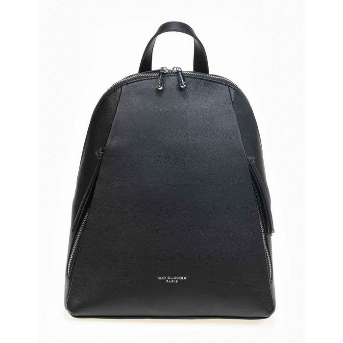 Τσάντα πλάτης David Jones με φερμουάρ - Μαύρο