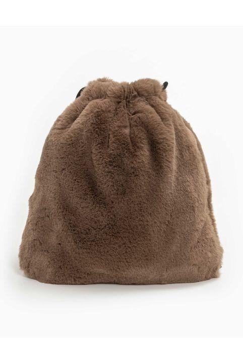 Faux fur πουγκί - Πούρο