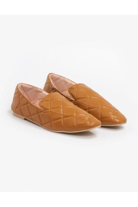 Καπιτονέ loafers - Κάμελ