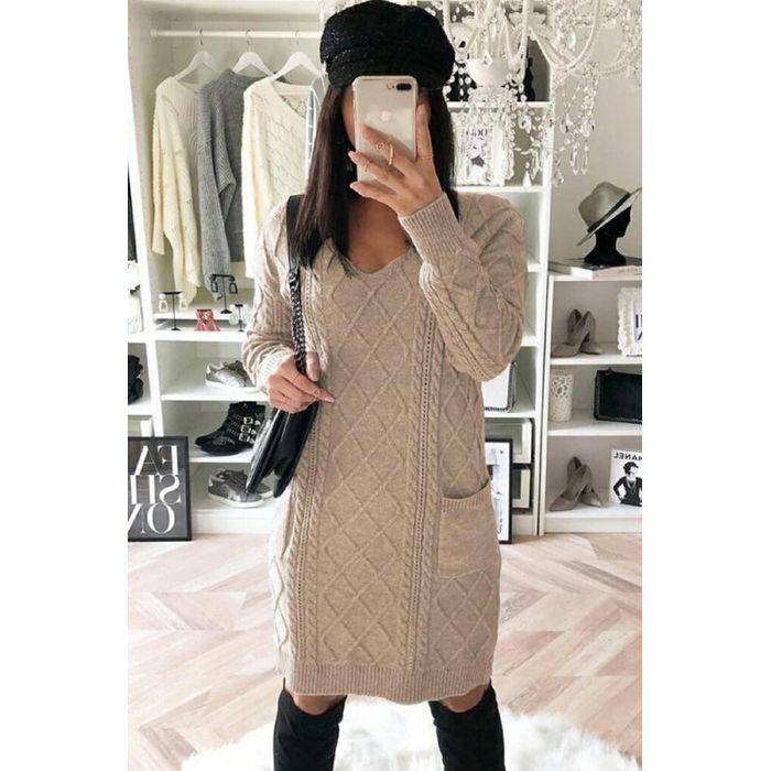 φόρεμα DIGOLA BEIGE - 1