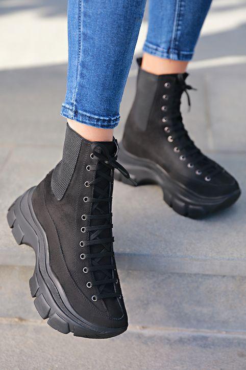 γυναικείες μπότες CALIPSO BLACK - 1