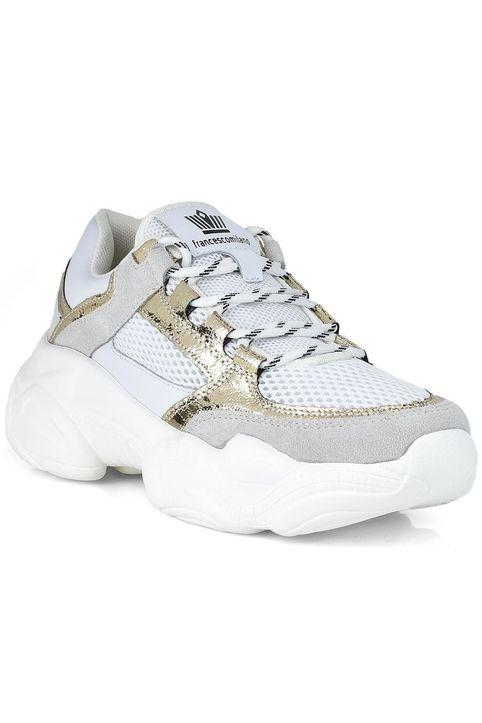 Δερμάτινο λευκό sneaker Francescomilano V44