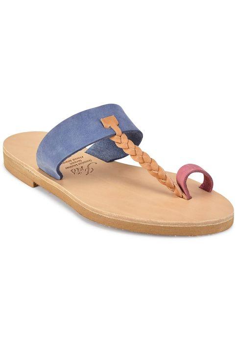 Δερμάτινη πολύχρωμη σαγιονάρα Iris Sandals IR51-3