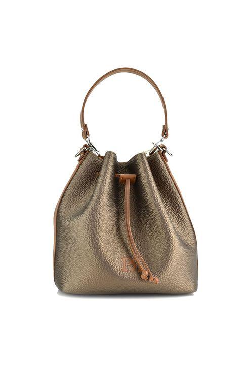 Μπρονζέ τσάντα πουγκί Pierro Accessories 90400