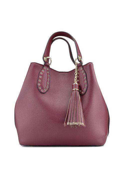 Μπορντο τσάντα πουγκί CK515