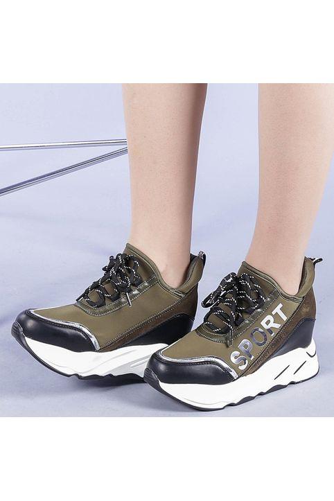 Γυναικεία αθλητικά παπούτσια Petrina πράσινα