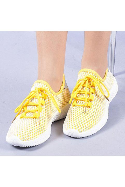 Γυναικεία αθλητικά παπούτσια Glennis κίτρινα