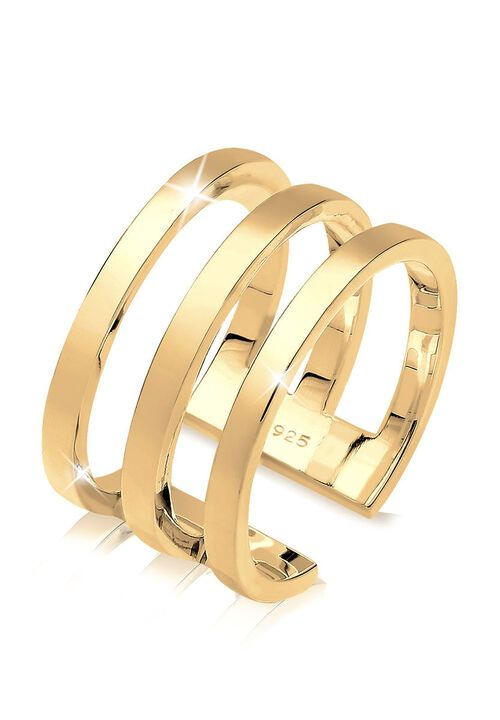 Elli Ring Blogger Must-Have Wickelring 925er Silber, Gold, Resizable