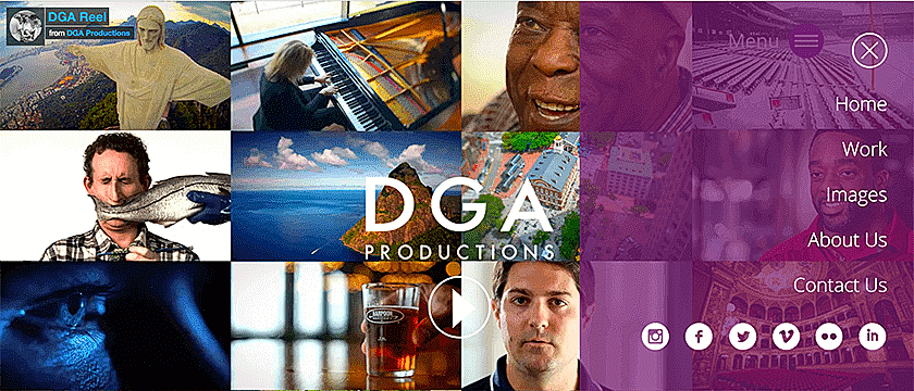 Web Design, CMS Development Web Development Project Screenshot for DGA Productions