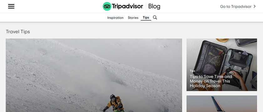 Angular Development, CMS Development, HTTP API Development, Enterprise WordPress Web Development Project Screenshot for TripAdvisor