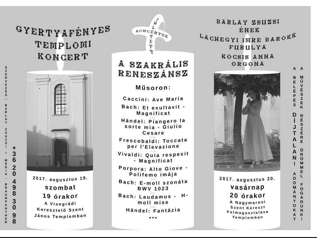 Gyertyafényes Templomi Barokk Koncert Visegrádon és...