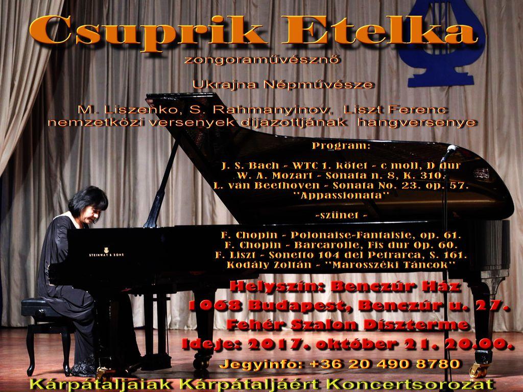 Csuprik Etelka zongorahangversenye