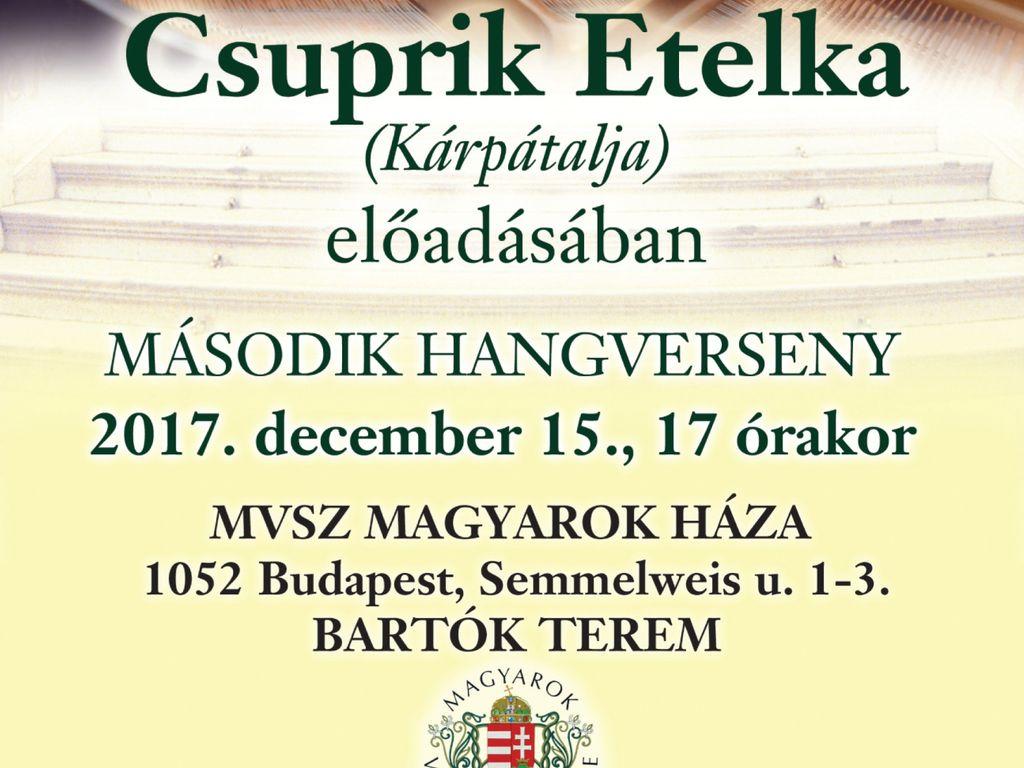 Csuprik Etelka, Liszt - , Rahmanyinov - Zongoraverseny díjas zongoraművésznő W. A. Mozart szonáta-estje