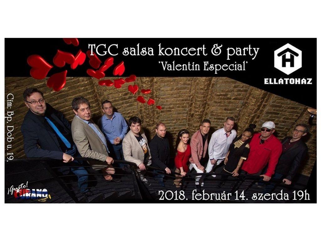 Team Gusto Cubano salsa koncert és party - 'Valentín Especial'