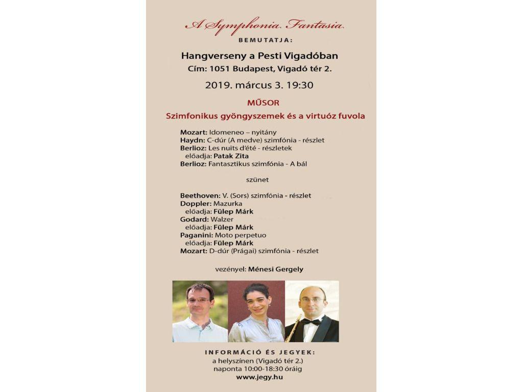 Symphonia Fantasia: Hangverseny a Pesti Vigadóban