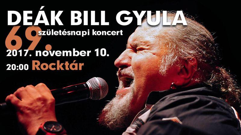 Ő még csak most 69... – Deák Bill Gyula szülinapi zsúrja a Rocktárban