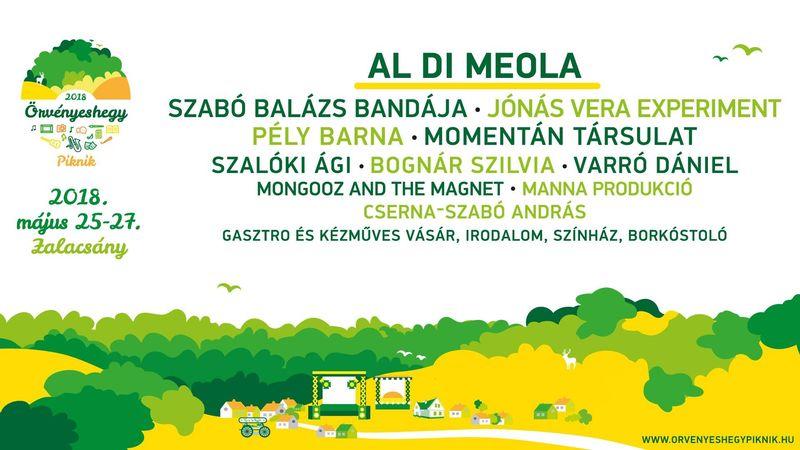 Péntek: Al Di Meola! Megvan az első Örvényeshegy Piknik programbontása
