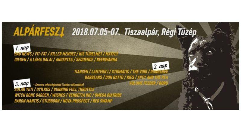 Családias metál-fesztivál Tiszaalpáron - Alpárfeszt