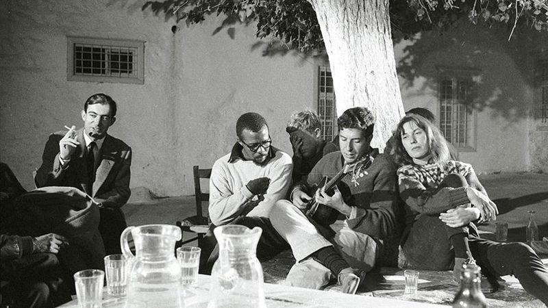 Leonard Cohen Hydra szigetén (Fotó: Ekathimerini)