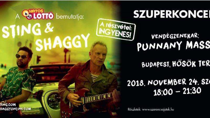 Tényleg lesz Sting & Shaggy ingyenes koncert a Hősök terén!