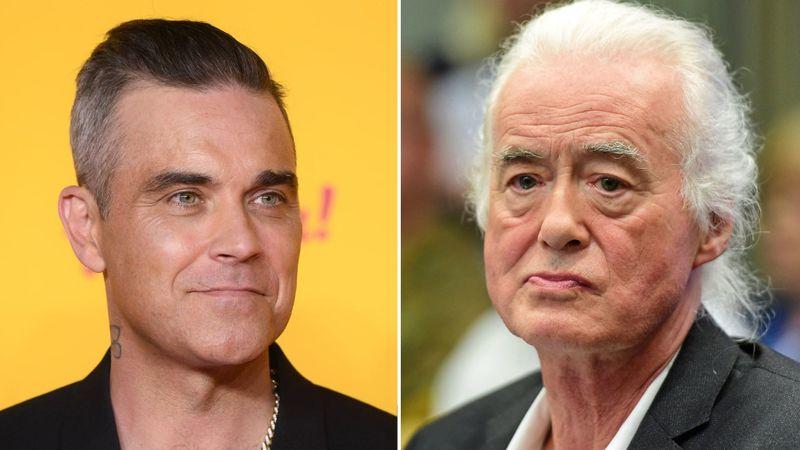 Robbie Williams Pink Floyddal kínozza a szomszédját: a Led Zeppelin gitárosát