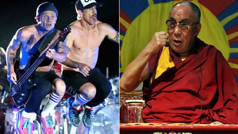 A dalai lámáért zúz a Red Hot Chili Peppers