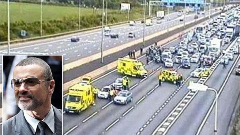 George Michael kiesett egy autópályán haladó terepjáróból