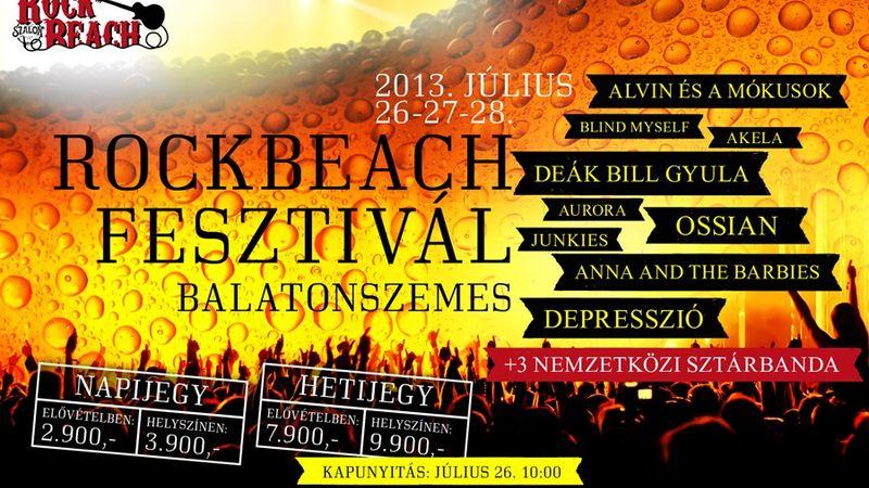 Rock Beach Fesztivál Balatonszemesen