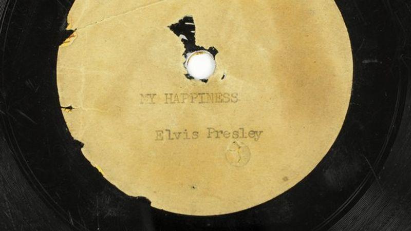 Elárverezik Elvis Presley első hangfelvételét