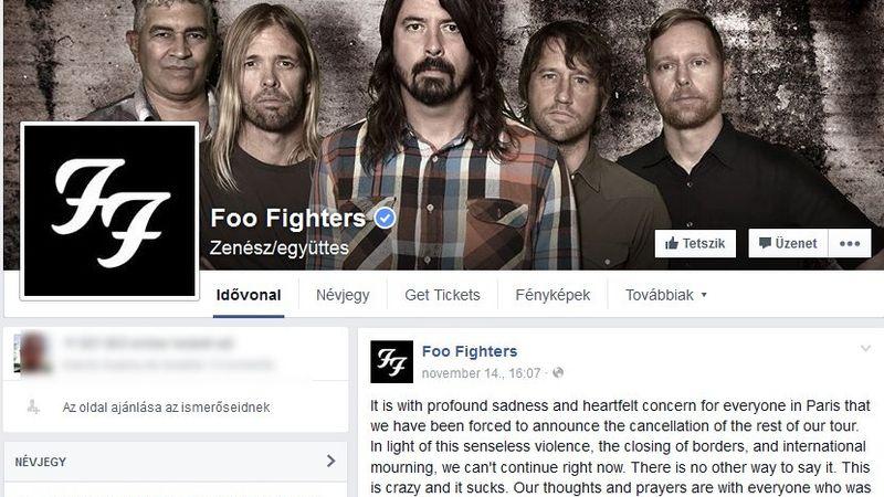 Motörhead, Foo Fighters, U2: Sorra mondják le a zenekarok a párizsi koncerteket