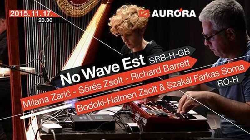 Szabadimprovizációs zenei est az Aurórában
