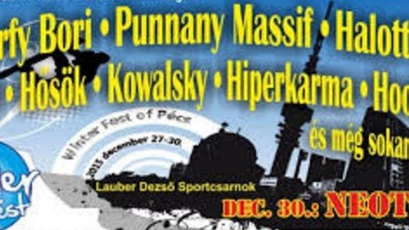 Winterfest of Pécs: Halott Pénz, Péterfy Bori, Punnany Massif