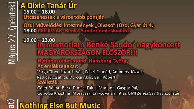 Hooligans jubileum, sztárok és egy nap Benkó Sándor emlékére - Ózdi Jazzparádé