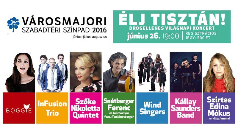 Drogellenes Világnapi koncert többek között Mókussal és a Kállay-Saunders Band-del