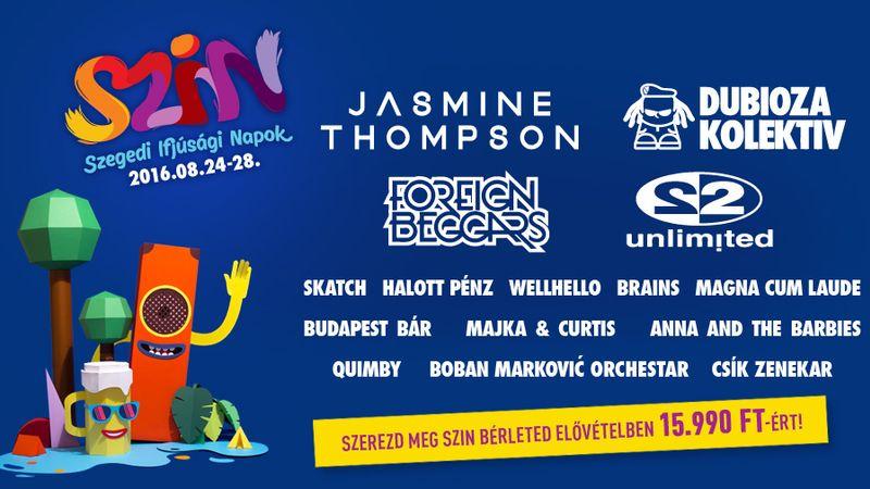 SZINes zenei program a nyárzáró fesztiválon Szegeden