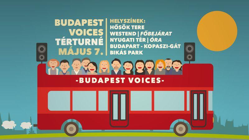 Emeletes buszról koncertezik vasárnap városszerte a Budapest Voices