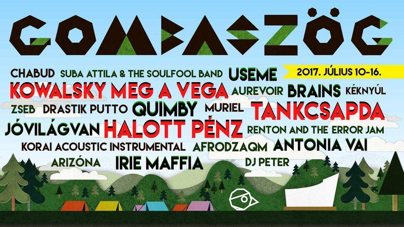 Tankcsapda, Quimby, Csík zenekar – Gombaszögön táboroznak júliusban