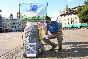 Il cammino di Alessio Tomasella, in Trentino sulla via Romea Germanica, contro la fibrosi cistica