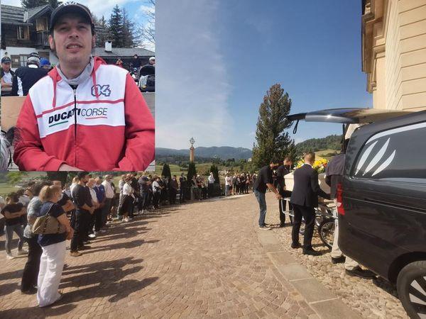 Che dolore al funerale di Franz: morto in moto a Madrano, tornava da un appuntamento per venderla