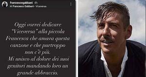Un commosso Francesco Gabbani ricorda la piccola Francesca