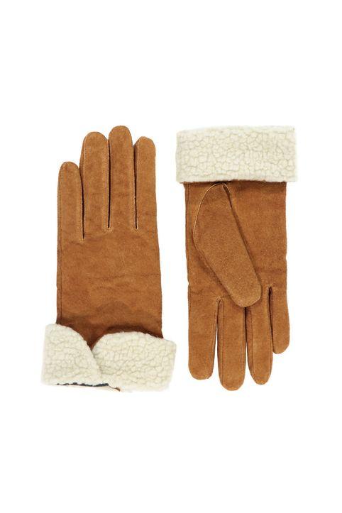 Δερμάτινα γούνινα γάντια