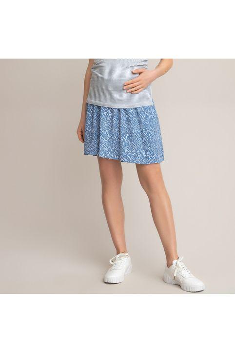Κοντή φούστα εγκυμοσύνης με πουά μοτίβο