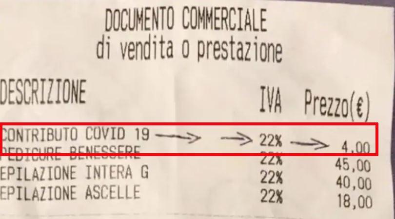 """Fase 2 Codacons Sugli scontrinii spunta tassa Covid balzello 2 4 euro per costi dovuti pandemia"""""""