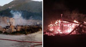 Incendio a Campo Imperatore, rifugio completamente distrutto dalle fiamme nella notte VIDEO