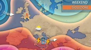 Meteo: addio caldo, maltempo nel weekend su gran parte dell'Italia. Le regioni più colpite