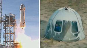 Bezos, missione compiuta: atterrata la capsula dopo il volo nello spazio